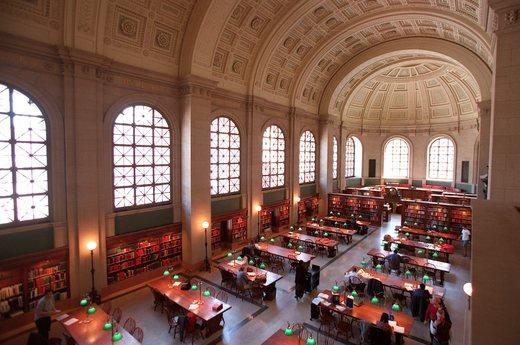 ボストン公共図書館:留学中にお世話になりました…