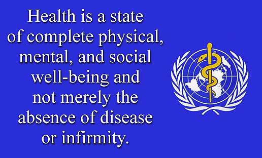 健康の定義(WHO)